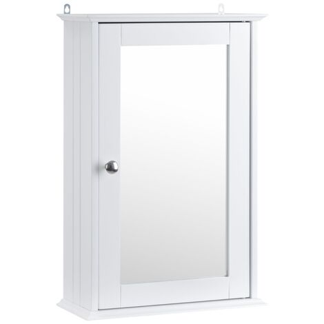 Small White Mirrored Cabinet