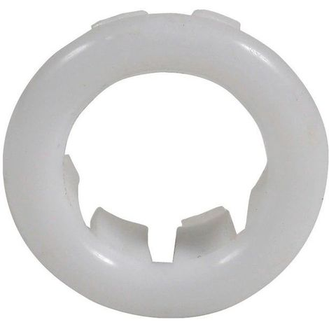 Small White Rosette Rose Collar for Bathroom Sink Basin Overflow 25mm Diameter
