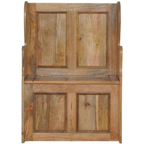 Small Wood Storage Hallway Monks Bench