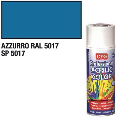 Smalto acrilico CFG azzurro RAL5017 spray vernice multiuso rapida 400ml