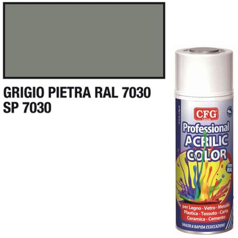 Smalto acrilico CFG grigio pietra RAL7030 spray vernice multiuso 400ml