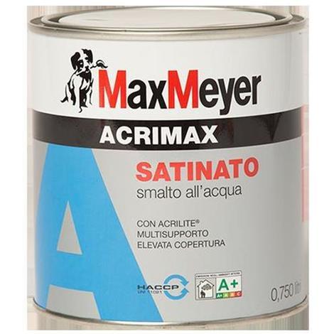 Smalto all'acqua con Acrilite Max Meyer ARIMAX Satinato Bianco calibrato A+ 0.75 litri
