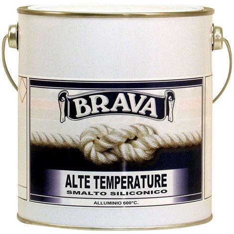 Smalto alta temperatura 600 gradi c colore alluminio litri 2,5