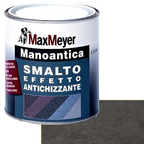 Smalto antiruggine antichizzante per ferro Max Meyer MANOANTICA Antracite gel 0.