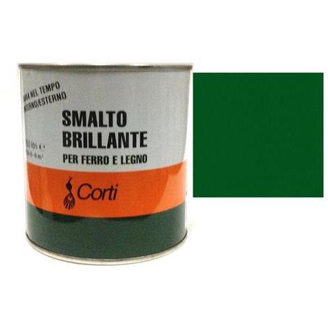 """main image of """"Smalto Brillante per ferro e legno Verde Bandiera CORTI 0,75lt esterno/interno"""""""