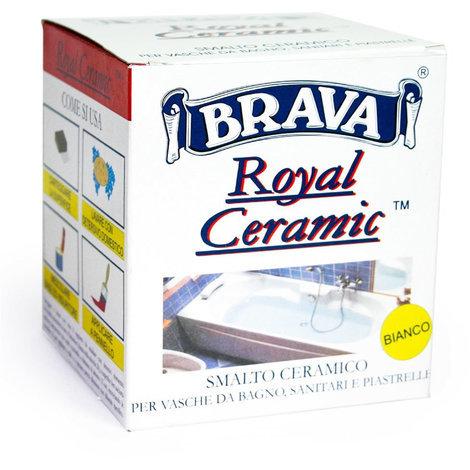 Smalto Ceramico Bicomponenete Bianco Royal Ceramic Brava Litri 0,375