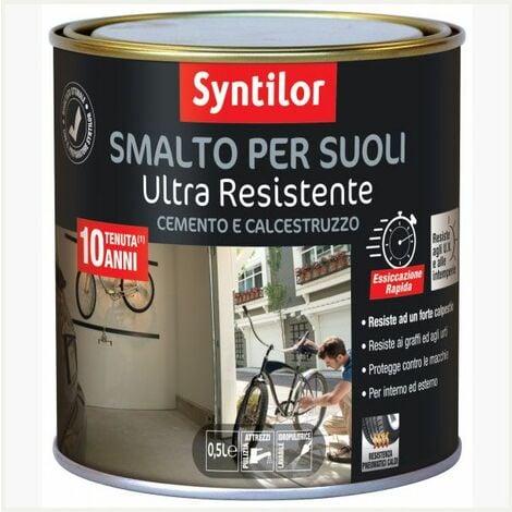 Smalto Per Suoli Ultra Resistente 0,5l Cemento-mattoni