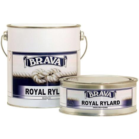 Smalto poliuretanico brava royal rylard bianco 2,5 litri bicomponente brillante