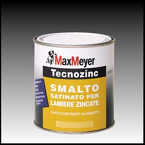 Smalto satinato per lamiere zincate Max Meyer Tecnozinc Nero 0.75 litri