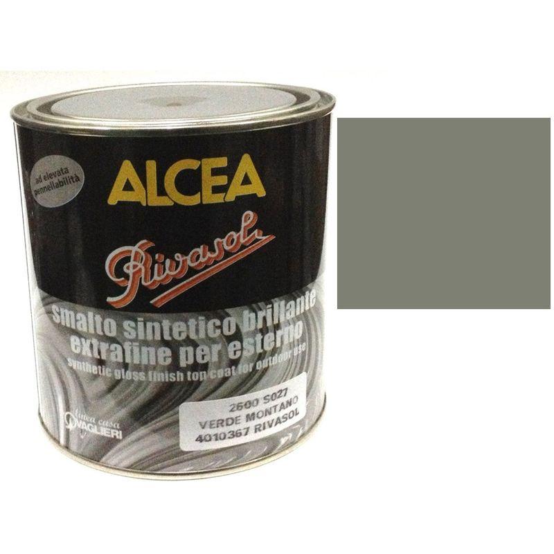 Migliore Marca Pittura Per Esterni smalto sintetico brillante extrafine per esterno 0.75 litri alcea rivasol  grigio