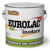 Smalto Sintetico Lucido Inodore Eurolac Laiv colore Bianco 0,750 Lt.