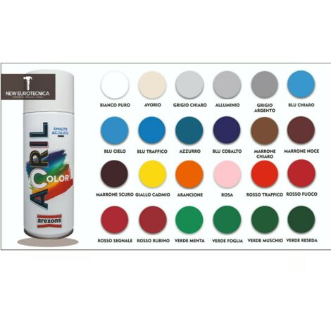 Smalto spray acrilico acricolor arexons 400ml - vari colori