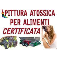 SMALTO VERNICE EPOSSIDICO USO ALIMENTARE BIANCO KG 5 alimenti CERTIFICATO acqua olio vino Pittura serbatoi ferro vasche