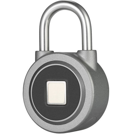 Smart Bluetooth Fingerprint Vorh?ngeschloss, USB Charging, schwarz