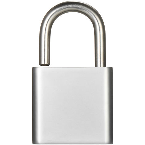 Smart Bluetooth Square Padlock Silver