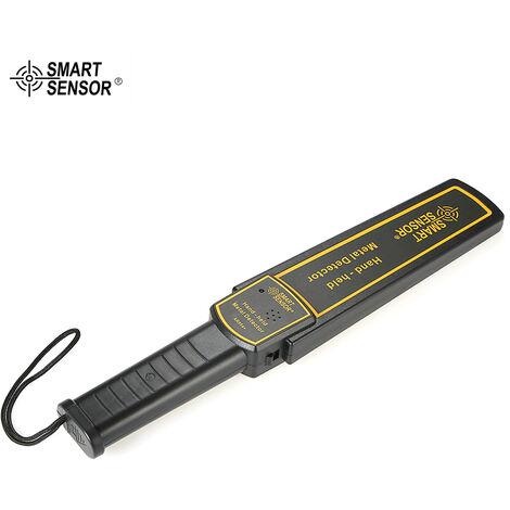 Smart Capteur A Haute Sensibilite A Main En Metal Detecteur De Securite Scanner Outil D'Analyse Avec Des Ecouteurs Buzzer Vibration Automatique Tuning