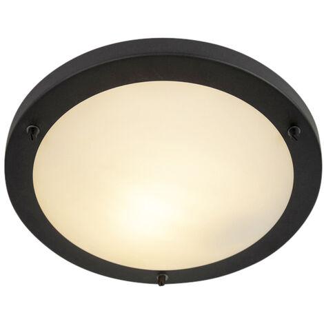 "main image of ""Smart ceiling lamp black incl. WiFi A60 IP44 - Yuma 31"""