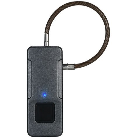 Smart Fingerprint Lock USB Rechargeable Door Luggage Garage Cabinet Lock