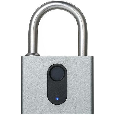 Smart Fingerprint Lock USB Rechargeable Security Padlock Door Luggage Lock