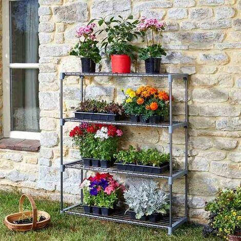Smart Garden 4 Tier Greenhouse GroZone Shed Storage Steel Shelving Shelves
