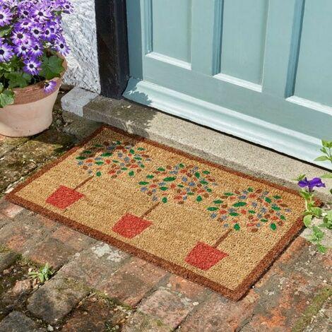 Smart Garden Bay Tree Topiary Coir Doormat PVC Backing Mat Indoor Outdoor