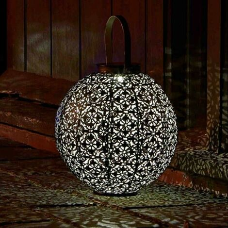 Smart Garden Damasque Lantern Silhouette Solar Light Garden Outdoor LED 1080910