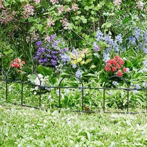 Smart Garden Easy Fence Wire Path Border Lawn Plant Beds Edging 3m Total x 0.2m