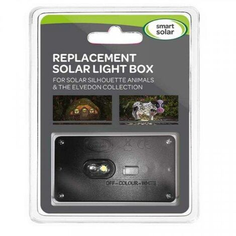 Smart Garden Replacement Solar Light Box Panel For Silhouette Animals & Elvedon