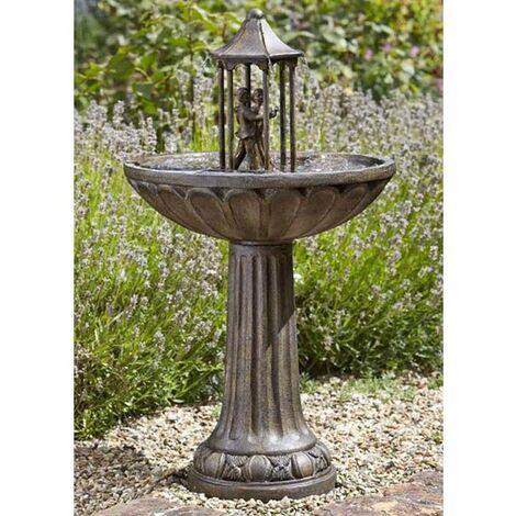 "main image of ""Smart Garden Solar Dancing Couple Garden Water Feature Fountain Bath 1170441"""
