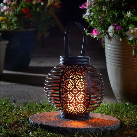 Smart Garden Solar Ferrara Flaming Torch Lantern LED Light Candle Silhouette