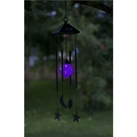 "main image of ""Smart Garden Solar Garden Patio Light Windchime Sun Moon Colour Changing"""