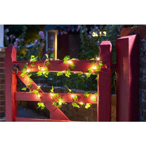 Smart Garden Solar Ivy Firefly Leaves String Lights Warm White 30 LEDs 4.9m