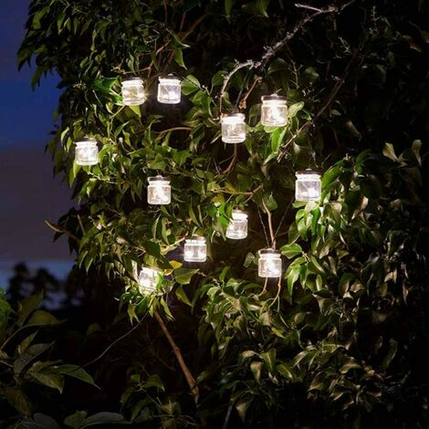 Smart Garden Solar String Firefly Fairy Jam Jar Lights Garden 10 Jars Outdoor
