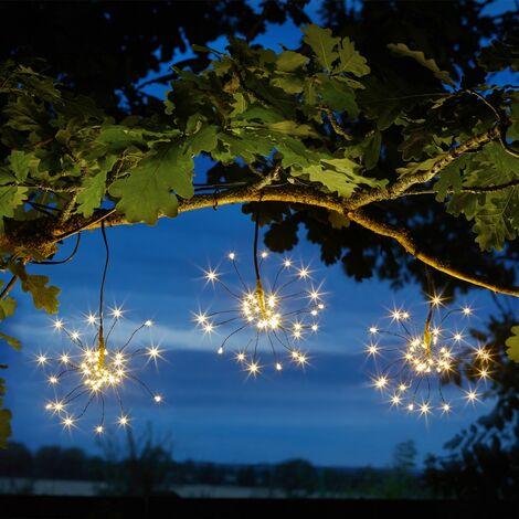 Smart Garden Triple Starburst Solar String Light Garden White or Coloured LED