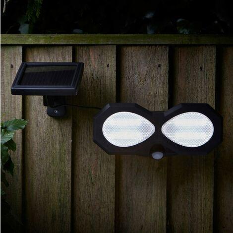 "main image of ""Smart Garden Twin Head Solar PIR Security Light Motion Sensor Wall Light"""
