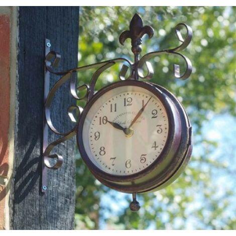 Smart Garden York Station Platform Indoor Outdoor Garden Clock Thermometer