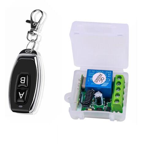 Smart Home 433Mhz 12V Dc 1Ch Commutateur Sans Fil A Distance De Relais Emetteur-Recepteur Telecommande Universelle Module De Commutation Et L'Emetteur Rf Telecommandes 1527, Vert Fonce, Ab-1