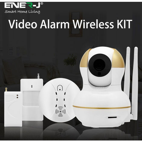 Smart Home Security Start Up Kit (1x Smart IP Camera +1x PIR Sensor +1x Door Sensor +1x Smoke Detector Sensor)