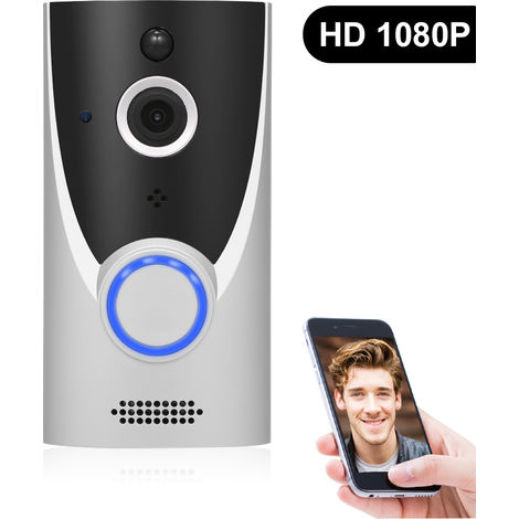 Smart Home WiFi video HD 1080P timbre de la puerta, con el audio bidireccional, ranura para tarjeta del TF timbre