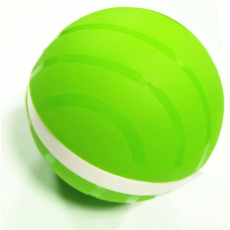 Smart Interactive Pet Ball LED Auto Rolling Flash Ball Dogs Cats Pet Toy,Green