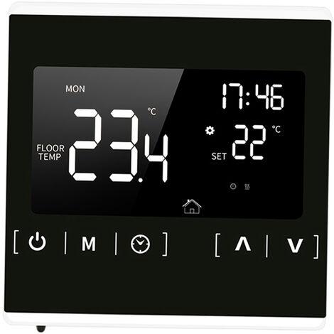Smart Lcd Thermostat A Ecran Tactile Pour La Maison Electrique Programmable Systeme De Plancher Chauffant Eau Chauffage Thermoregulator Ac 85-250V Regulateur De Temperature, Blanc