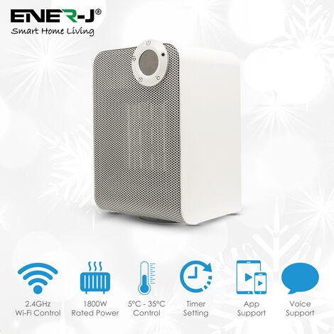 Smart Portable Heater 1800W, Oscillation, Manual, APP & Voice Control