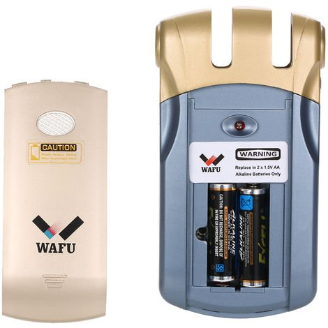 Smart remote lock (shipped without 2 AA batteries) HF-018USB blue + gold