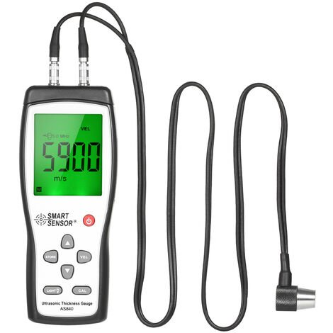 SMART SENSOR Professional Ultrasonic Thickness Gauge Handheld LCD Digital Thickness Tester Depth Meter