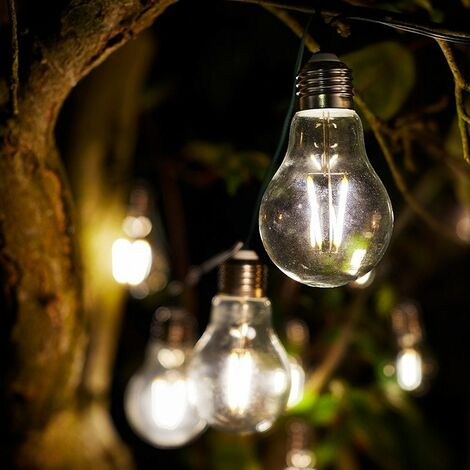 Smart Solar Eureka! Retro String Lights - 10 bulbs