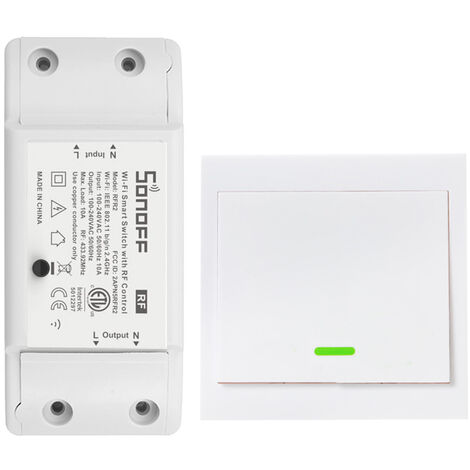 Smart switch, RF433MHz, 1 PZ, con nastro biadesivo