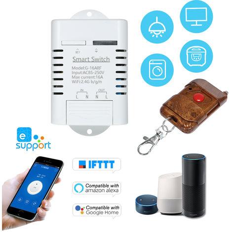 Smart Switch Wifi, RF 433MHz 16A 3500W Wireless / interruptor remoto Timer