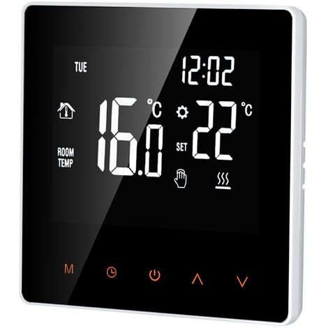 Smart-Thermostat Digital-Temperaturregler LCD Display Touch Screen Woche Programmierbarer Thermostat fur elektrische Fu?bodenheizung fur Home School Buro Hotel 16A