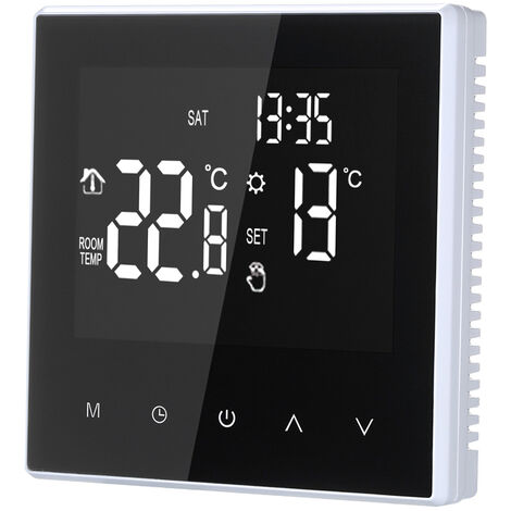 Smart Thermostat Digital-Temperaturregler Weekly Circulation Programmierbarer Elektro-Fu?bodenheizung mit gro?em LCD-Schirm fur Home School Buro Hotel 16A