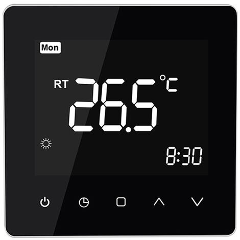 Smart Thermostat schwarz Kamin